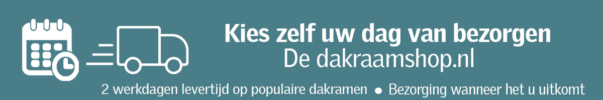 De Dakraamshop.nl | Zelf bepalen wanneer uw producten bij u bezorgt worden