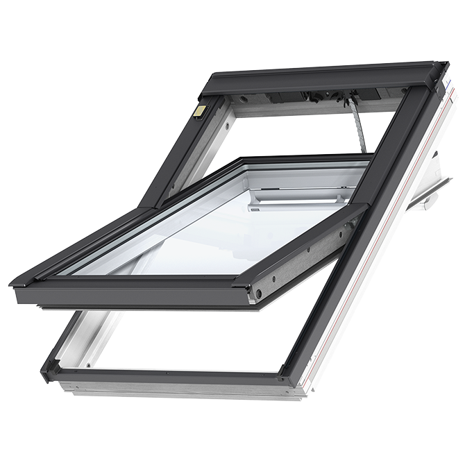 velux solstro roof windows blinds accessories. Black Bedroom Furniture Sets. Home Design Ideas